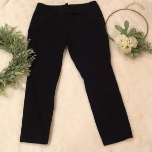 White House Black Market Black Ankle Pants EUC